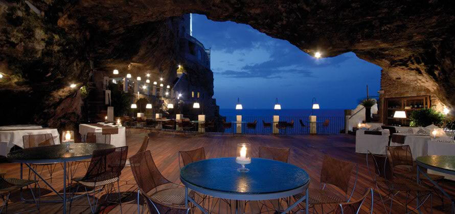 ресторан Grotta Palazzese